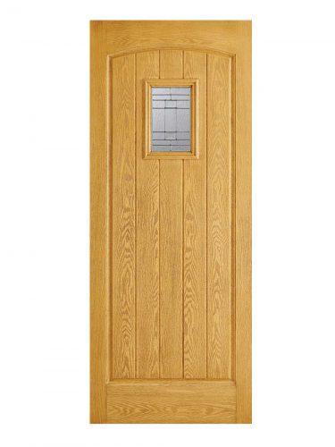 LPD GRP Cottage Oak External Glazed Door 1L