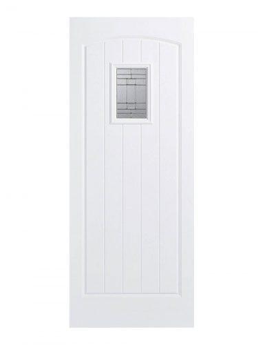 LPD GRP Cottage White External Glazed Door 1L