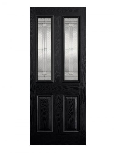 LPD GRP Malton Black External Glazed Door 2L