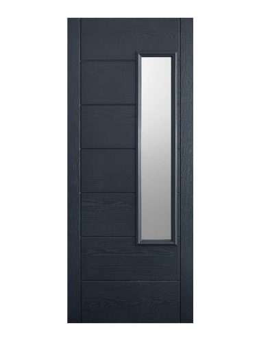 LPD GRP Newbury Grey External Glazed Door 1L