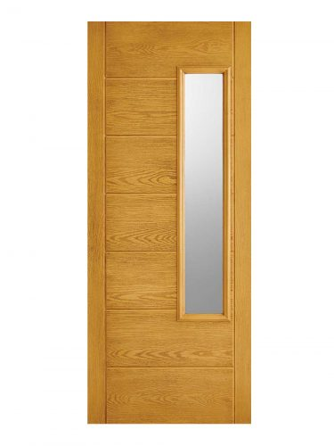 LPD GRP Newbury Oak External Glazed Door 1L