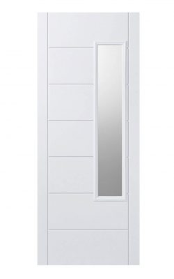 LPD GRP Newbury White External Glazed Door 1L