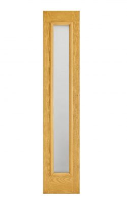 LPD GRP Sidelight Oak 1L Frosted External DoorLPD GRP Sidelight Oak 1L Frosted External Door