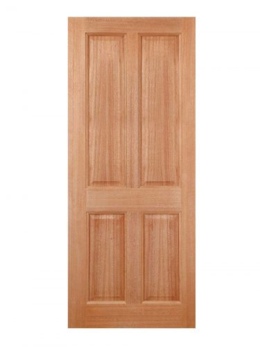 LPD Hardwood Colonial 4-Panel M&T External Door