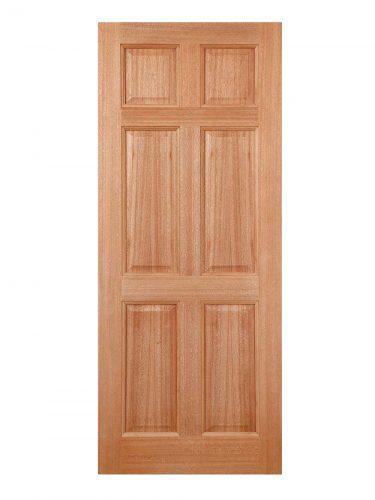 LPD Hardwood Colonial 6-Panel Dowelled External Door