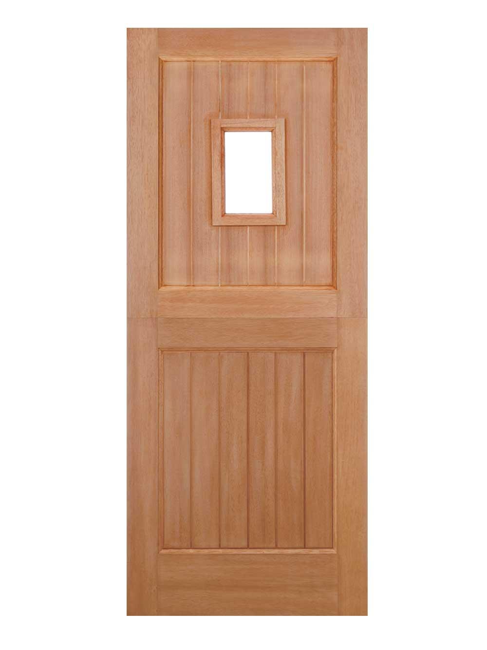 Straight Top External Hardwood Stable 1 Light Door Unglazed