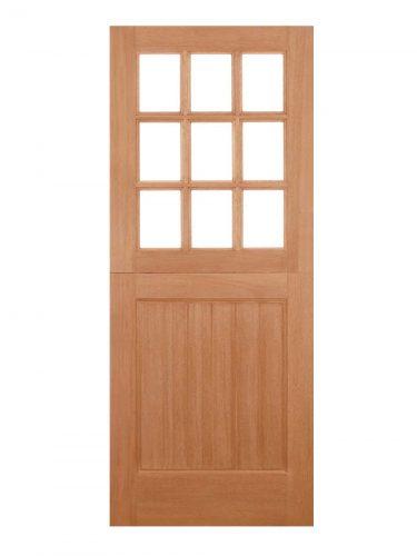 LPD Hardwood Stable Straight Top 9L M&T Unglazed External Door