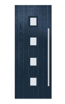 LPD Milton Blue GRP Glazed External Door SetLPD Milton Blue GRP Glazed External Door Set