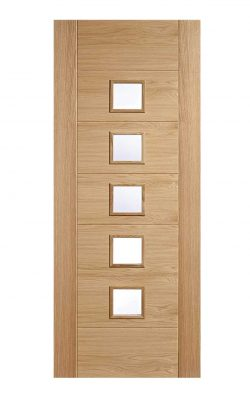 LPD Oak Oak Carini 5L Pre Finished  Internal Glazed DoorLPD Oak Oak Carini 5L Pre Finished  Internal Glazed Door