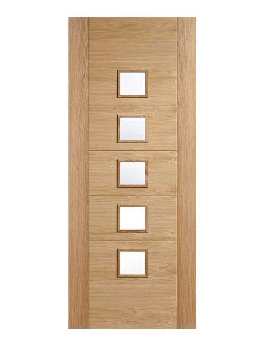 LPD Oak Oak Carini 5L Pre Finished  Internal Glazed Door