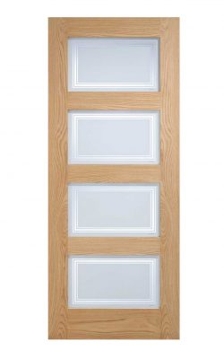 LPD Oak Contemporary Internal Glazed Door 4L SilkscreenLPD Oak Contemporary Internal Glazed Door 4L Silkscreen