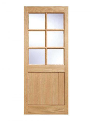 LPD Oak Cottage External Glazed Door 6L