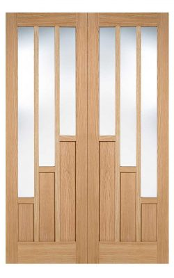 LPD Oak Coventry 3L Internal Glazed Door PairsLPD Oak Coventry 3L Internal Glazed Door Pairs