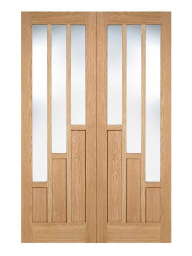 LPD Oak Coventry Prefinished Internal Glazed Door 3L Pairs