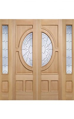 LPD Oak Empress Sidelight External Glazed Door 1LLPD Oak Empress Sidelight External Glazed Door 1L