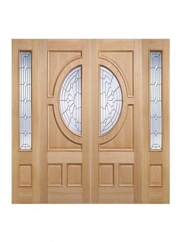 LPD Oak Empress Sidelight External Glazed Door 1L
