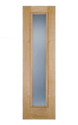 LPD Oak Frosted Sidelight External Glazed Door 1LLPD Oak Frosted Sidelight External Glazed Door 1L