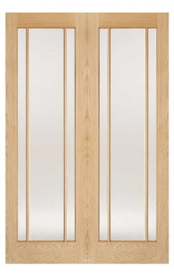 LPD Oak Lincoln Internal Glazed Door 3L PairsLPD Oak Lincoln Internal Glazed Door 3L Pairs