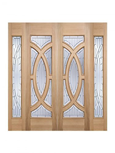 LPD Oak Majestic Sidelight External Glazed Door 1L