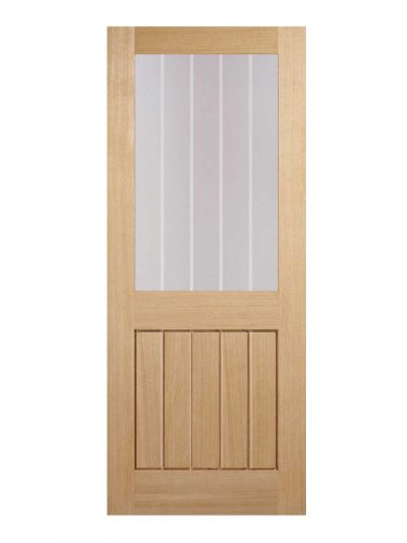 LPD Oak Mexicano Internal Glazed Door Half Light