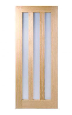 LPD Oak Utah 3L Frosted Internal Glazed DoorLPD Oak Utah 3L Frosted Internal Glazed Door