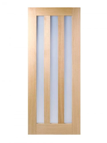 LPD Oak Utah 3L Frosted Pre-finished Internal Glazed Door
