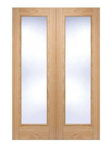 LPD Oak Vancouver Internal Glazed Door Pair