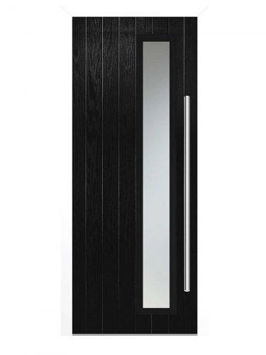 LPD Shardlow Black Glazed GRP External Door Set