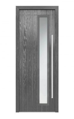 LPD Shardlow Grey Glazed GRP External Door SetLPD Shardlow Grey Glazed GRP External Door Set