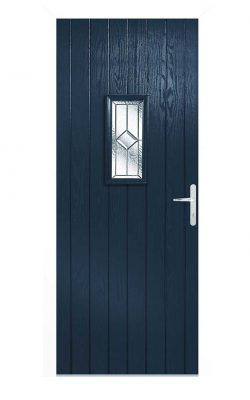 LPD Speedwell Blue Glazed External Door SetLPD Speedwell Blue Glazed External Door Set