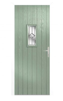 LPD Speedwell Chartwell Green GRP Glazed External Door SetLPD Speedwell Chartwell Green GRP Glazed External Door Set