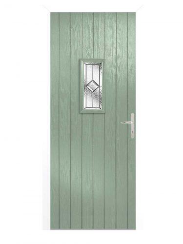 LPD Speedwell Chartwell Green GRP Glazed External Door Set