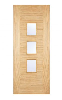 LPD Arta Oak Frosted Glazed External DoorLPD Arta Oak Frosted Glazed External Door