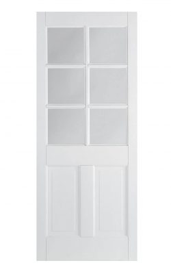 LPD White Canterbury 2-Panel Internal Glazed Door 6LLPD White Canterbury 2-Panel Internal Glazed Door 6L