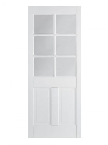 LPD White Canterbury 2-Panel Internal Glazed Door 6L