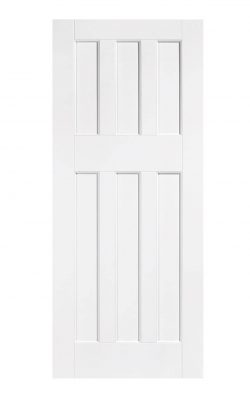 LPD White DX 60s Style Internal DoorLPD White DX 60s Style Internal Door