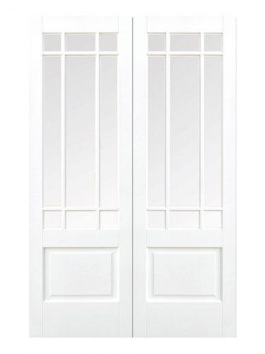 LPD White Downham Internal Glazed Door 9L Pair