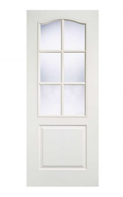 LPD White Moulded Classical 6L Internal Glazed DoorLPD White Moulded Classical 6L Internal Glazed Door