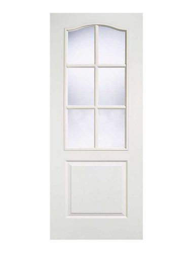 LPD White Moulded Classical 6L Internal Glazed Door