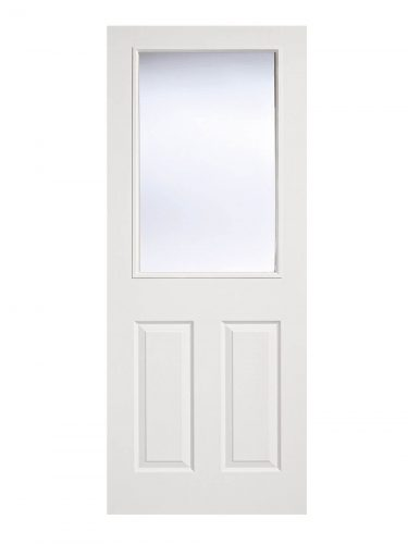 LPD White Moulded Internal Glazed Door 2-Panel 1L