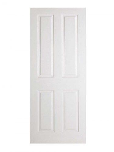 LPD White Moulded Textured 4-Panel Internal Door
