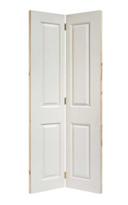 LPD White Moulded Textured 4-Panel Bi-Fold Internal DoorLPD White Moulded Textured 4-Panel Bi-Fold Internal Door
