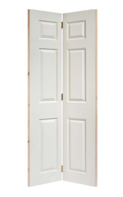 LPD White Moulded Textured 6-Panel Bi-Fold Internal DoorLPD White Moulded Textured 6-Panel Bi-Fold Internal Door