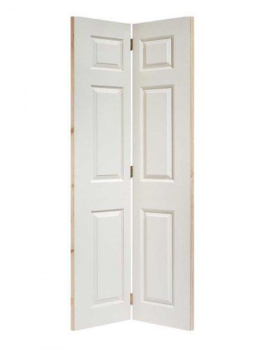 LPD White Moulded Textured 6-Panel Bi-Fold Internal Door