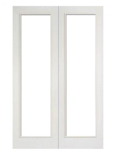 LPD White Pattern 20 Internal Glazed Door Pair