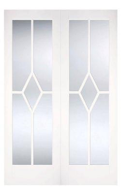 LPD White Reims Internal Glazed Door PairLPD White Reims Internal Glazed Door Pair