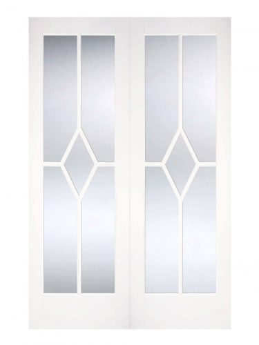 LPD White Reims Internal Glazed Door Pair