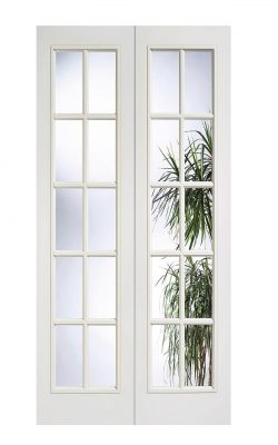 LPD White Moulded SA 10L Internal Glazed Door PairLPD White Moulded SA 10L Internal Glazed Door Pair