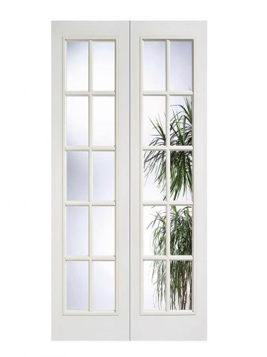 LPD White Moulded SA 10L Internal Glazed Door Pair