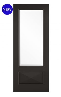 LPD Black Knightsbridge 1L Internal Glazed DoorLPD Black Knightsbridge 1L Internal Glazed Door